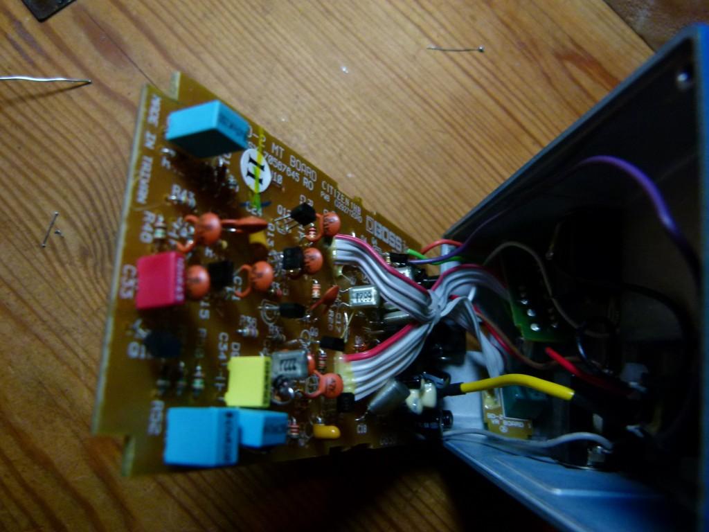 Boss BD-2 - Repérage des composants à remplacer